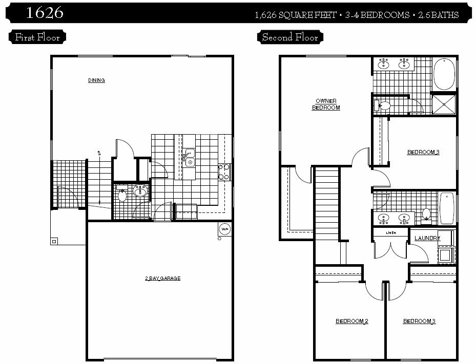2 Bedroom 2 Story Townhouse Plans Home Plans Ideas