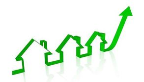 Home pricing gong up icon