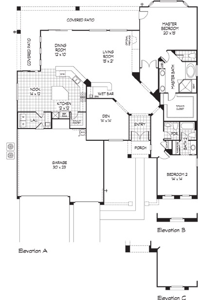 Sun city anthem yorktown floorplan and model henderson for Nv homes floor plans