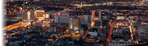 Las Vegas Stip and City Night View