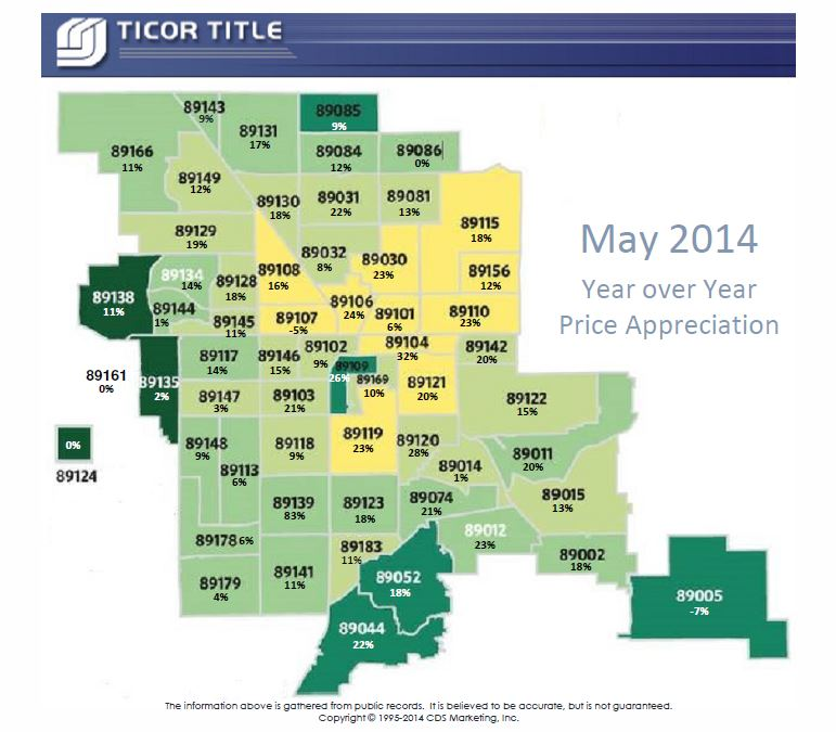 APPRECIATION MAP May 2014-Ticor Title - Realty One Group Las vegas